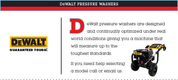 Dewalt Gas Amp Electric High Pressure Power Washers For Sale